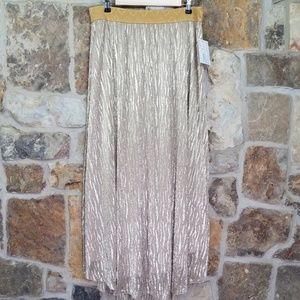 NWT LuLaRoe XL Lucy Elegant Gold Maxi Skirt
